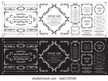 Useful as a set of vintage design materials, design elements for weddings and message cards