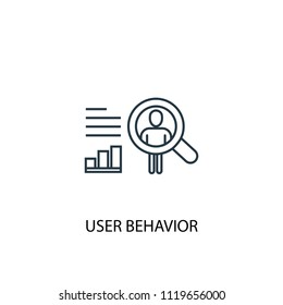 User behavior concept line icon. Simple element illustration. User behavior concept outline symbol design from Big data, database set. Can be used for web and mobile UI/UX