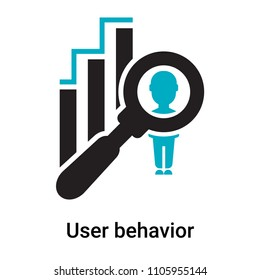 User behavior icon vector isolated on white background for your web and mobile app design, User behavior logo concept