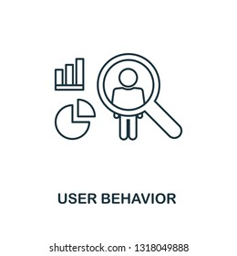 User Behavior outline icon. Thin line style from big data icons collection. Pixel perfect simple element user behavior icon for web design, apps, software, print usage