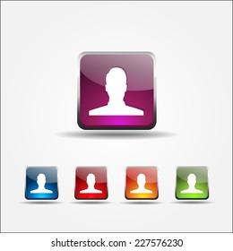 User Colorful Vector Icon Design
