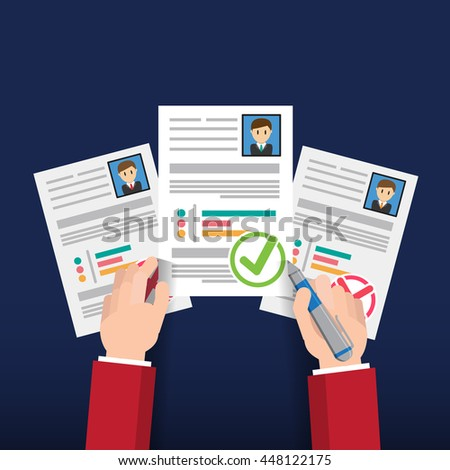 User Design Resume Info Graphic Design Job Stock Vector Royalty