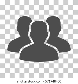 User Group icon. Vector illustration style is flat iconic symbol, gray color, transparent background. Designed for web and software interfaces.