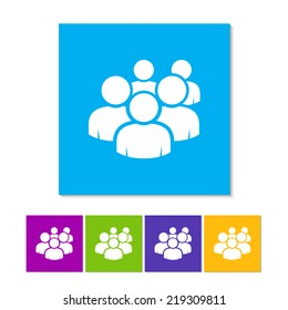 User group network icon. Metro style. Group People icon. Community people. Member icon. Team activity. Forum button. Group activity icon. Networking people