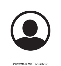 User icon in flat style, Person for web site vector illustration