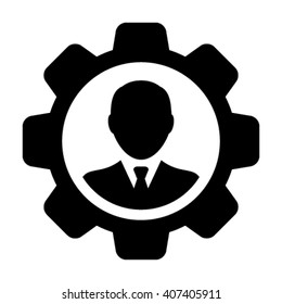 User Icon with Gear - Vector