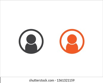 User Icon isolated on a white background