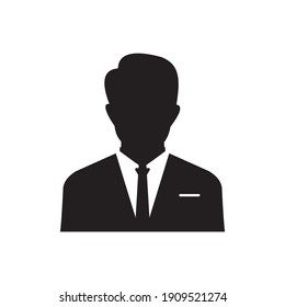user icon of man in business suit symbol