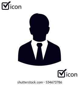 User icon of man in business suit.