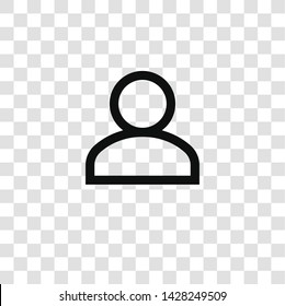 user icon from miscellaneous collection for mobile concept and web apps icon. Transparent outline, thin line user icon for website design and mobile, app development
