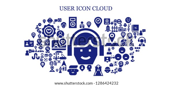 User Icon Set 93 Filled User Stock Vector (Royalty Free) 1286424232