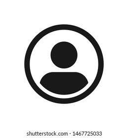 User Icon in trendy flat style isolated on grey background. User symbol for your web site design, logo, app, UI. Vector illustration,