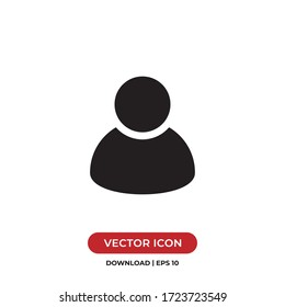 User icon vector. Avatar sign