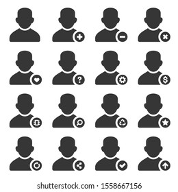 User Icons Set on White Background. Vector