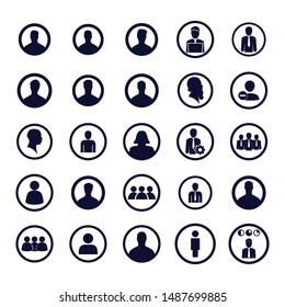User icons set. Vector illustration. Profile pictures icons. Businessman icons.