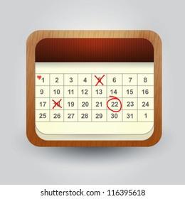 User interface calendar