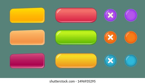 user interface color buttons set