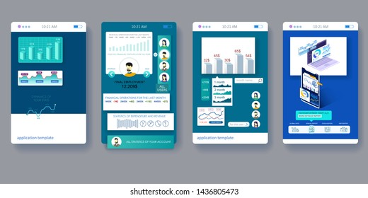 User interface design. Isometric objects. Good solution for your business projects.
