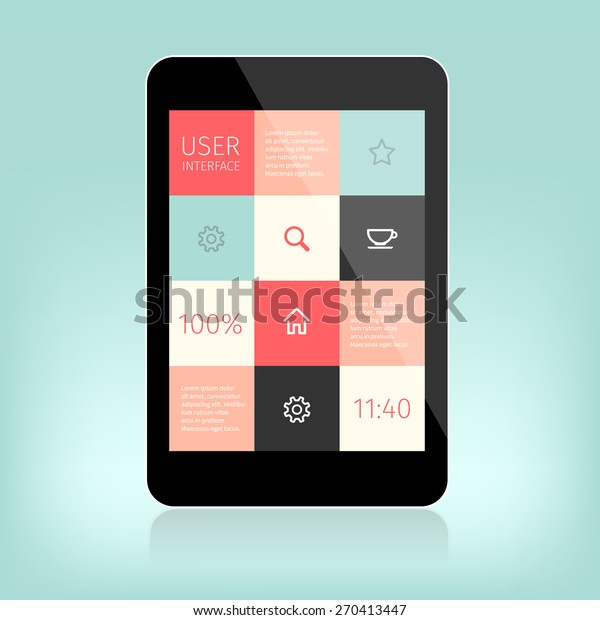 User Interface Design Mobile Devices Presentation Stock Vector Royalty Free 270413447
