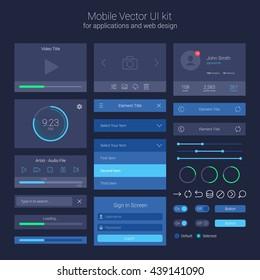 User Interface Kit, UI Elements, Vector EPS 10 Illustration