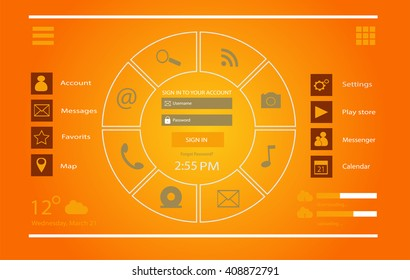 User interface mobile and web design vector