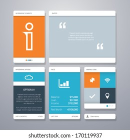 User interface (ui) and infographic vector elements.