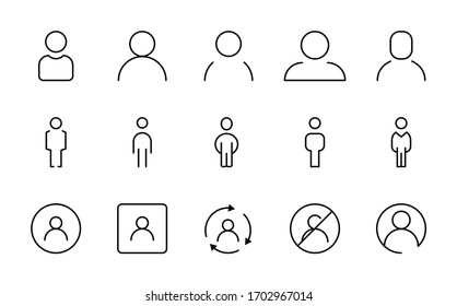 User line icon set. Collection of vector symbol in trendy flat style on white background. Web sings for design.