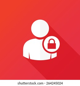 User login or authenticate icon, vector
