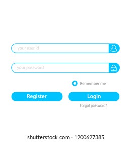 User Login and register user interface template. Vector Illustration