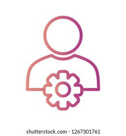 User Management Vector Icon Sign Icon Vector Illustration For Personal And Commercial Use...Clean Look Trendy Icon...