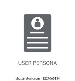 User Persona icon. Trendy User Persona logo concept on white background from Technology collection. Suitable for use on web apps, mobile apps and print media.