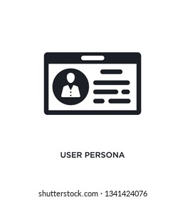 user persona isolated icon. simple element illustration from technology concept icons. user persona editable logo sign symbol design on white background. can be use for web and mobile
