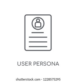 User Persona linear icon. Modern outline User Persona logo concept on white background from Technology collection. Suitable for use on web apps, mobile apps and print media.