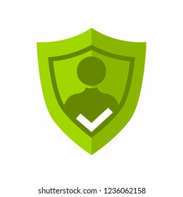 User Privacy, Shield, Guard, Self Protection Internet Login Vector