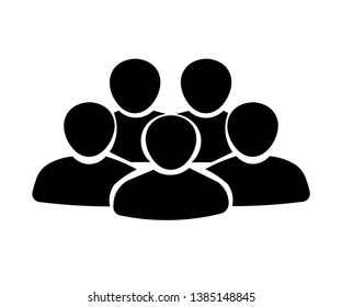 User Profile Group Outline Icon Symbol - Vector