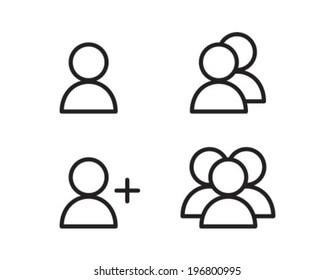 User Profile Group Outline Icon Symbol
