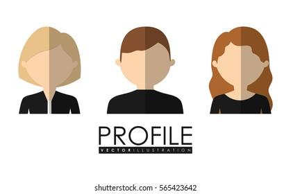 user profile icon image vector illustration design