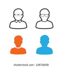 User Profile Picture Icon Vector Set