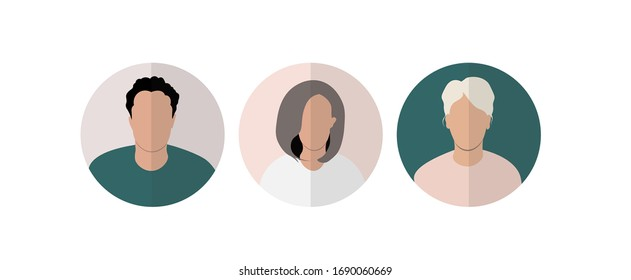 user profile, UX vector persona, avatar