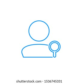 User Search Icon. Employee candidate find. Person, avatar iicon