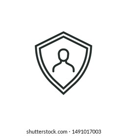 user security - minimal line web icon. simple vector illustration. concept for infographic, website or app.