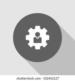 user settings icon vector, can be used for web and mobile design