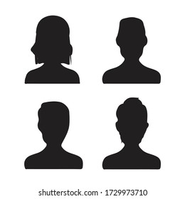 User silhouette icon. Vector graphics are good for smartphones, computers or laptops, applications etc.