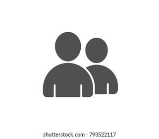 User simple icon. Couple or Group sign. Person silhouette symbol. Quality design elements. Classic style. Vector