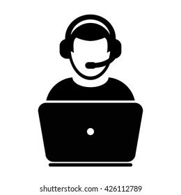 User Support Icon - Vector