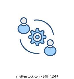 User Synergy Icon Vector