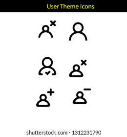 user theme icon with line style