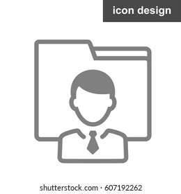 User vector icon of man in business suit