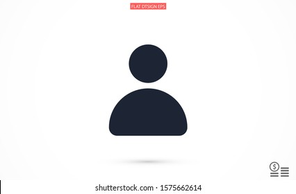 User vector icon. Profile user icon illustration. Person icon symbol web illustration. People icon on background.