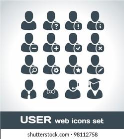 User Web Icons Set